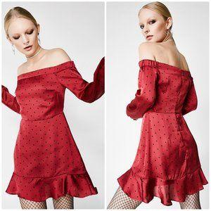 DOLLS KILL aphrodite off shoulder dress